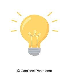 zwiebel, idee, licht
