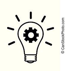 zwiebel, licht, idee, kreativ